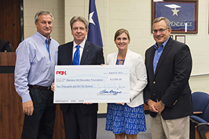 PBK handing donation check to Dr. Greg Poole